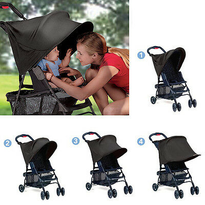 1pc black UV block kids baby stroller sun shade cover adjustable canopies