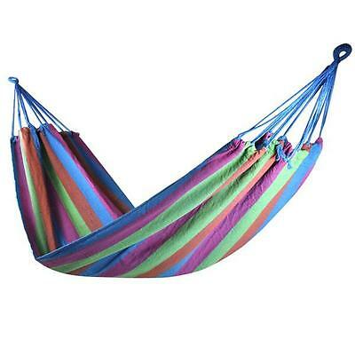 Rose Outdoor Garden Camping Patio Beach Single Travel Hammock Swing Chair Bed