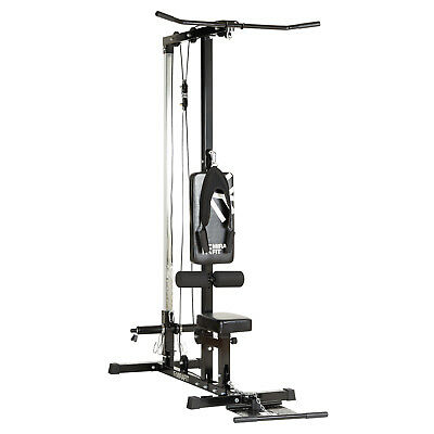 MIRAFIT Lat Pull Down Machine Home Multi Gym Seated Cable Row/Arm Curl Back Push