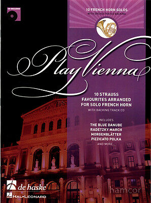 Play Vienna French F Horn 10 Strauss Favourites Music Book & Backing Track CD