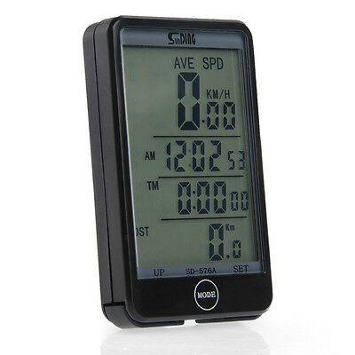 SUNDING SD-576A Waterproof Wired Large-screen Bicycle Computer Odometer ODO