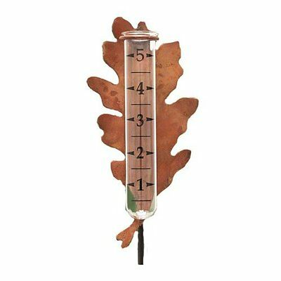 NEW Ancient Graffiti Solid Copper Oak Leaf Rain Gauge FREE SHIPPING
