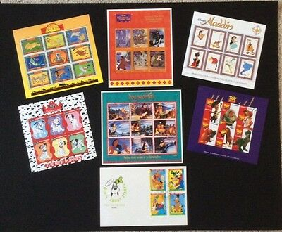 Disney - Collection of 6 sheetlets & 1 FDC - All Disney Films - MNH