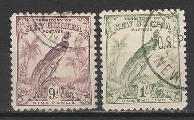 New Guinea 1932 Undated Bird 9D And 1/- Used