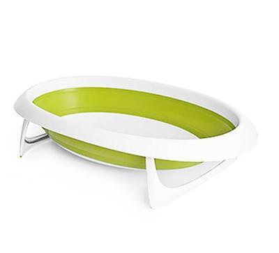 Boon B612 Stylish Baby To Toddler Size Portable Bathtub Collapsible White Green