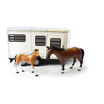 Tomy 42846 Britains Big Farm Childrens Toy Horse Trailer With Horse And Foal New