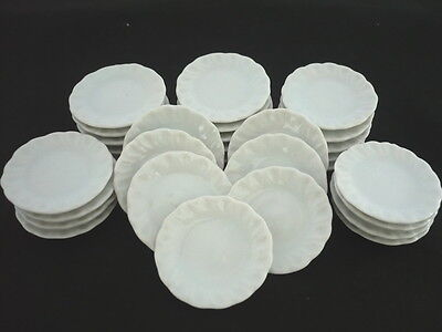 5x3.50 cm White Heart Plate Dollhouse Miniatures Ceramic Supply Food