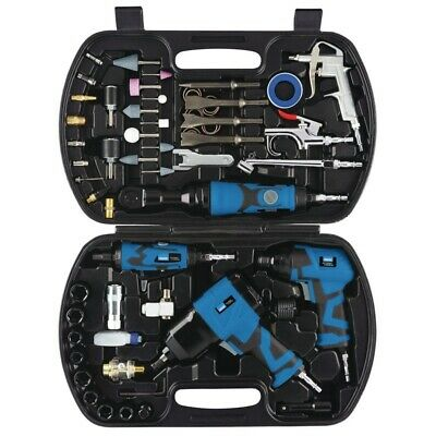 Draper Storm Force 68 Piece Air Tool Impact Wrench Hammer Chisel Die Grinder Kit
