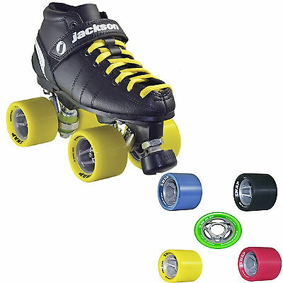 Indoor Outdoor Roller Skates Jackson Vantage VIP Atom snap with Matching Laces