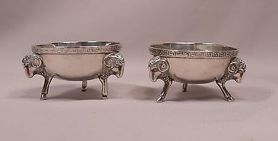 Pair of Tiffany & Co. Antique Sterling Silver Salt Bowls 1855