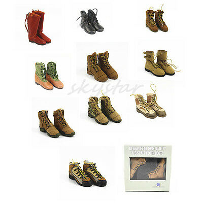 1/6 scale shoes boots leather clothes Military soldier for 12 inch Action Figure