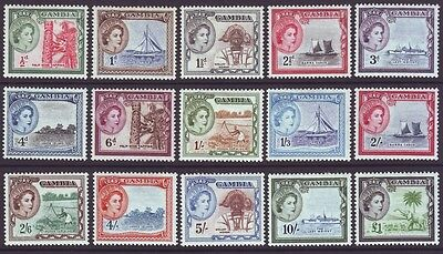 Gambia 1953 SC 153-167 MH Set