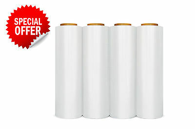 "4 Rolls ( 1 Case ) Hand Stretch Wrap Film Banding 18"" x 1500' 11.5 Micron"