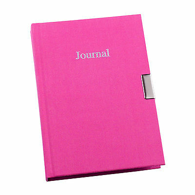 Bright Pink Fabric Cover Any Year Undated 3 Year Lockable Girls Diary Journal 33
