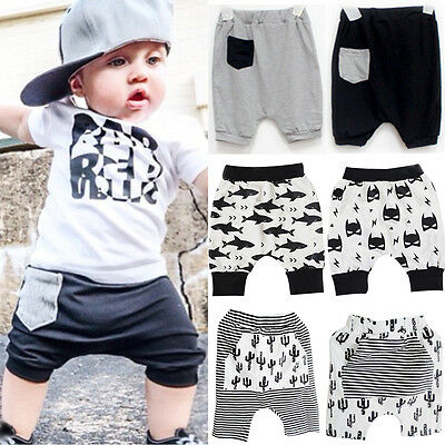 Fashion Kids Baby Boys Harem Shorts Trousers Summer Cropped Pants Bottoms 0-5Y