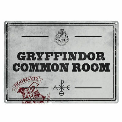 Harry Potter Gryffindor Common Room A5 Steel Sign Tin Picture Wall Art Plaque