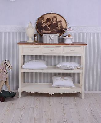 vintage nostalgie sitzbank im landhausstil weiss cottage. Black Bedroom Furniture Sets. Home Design Ideas