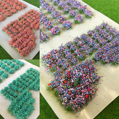 S-P Mixed Garden Flowers - Model Scenery Railway Dolls House Wargames Base Tufts