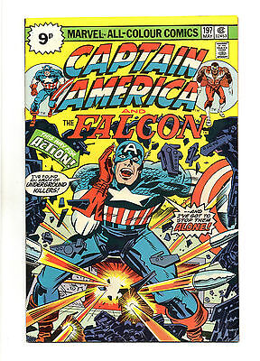 Captain America Vol 1 No 197 May 1976 (VFN+ to NM-) Bronze Age, Jack Kirby art