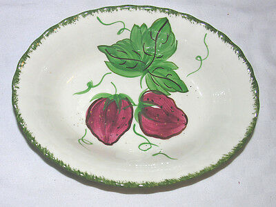 "Blue Ridge Wild Strawberry 9.1/2"" x 7"" Oval Vegetable Serving Bowl"