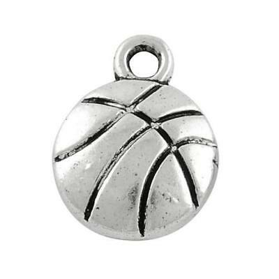 Pack of 20 x Antique Silver Tibetan 14mm Charms (Basketball) HA08975