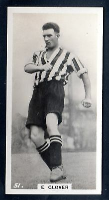 PATTREIOUEX FOOTBALLERS IN ACTION 1934 E. GLOVER-GRIMSBY TOWN-WALES No.51