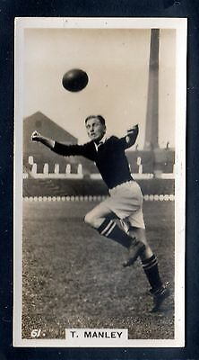 PATTREIOUEX FOOTBALLERS IN ACTION 1934 T. MANLEY-MANCHESTER UNITED No.61