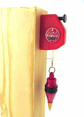 Shinwa Plumb 200 gram Bob with Auto Hold Reel and Hang Hole Spring Loaded Pin