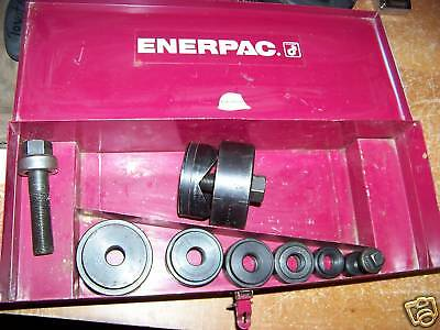 Enerpac Knockout Punch Die Set New/used 1/2-21/2