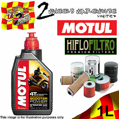 1L Motul Scooter Power 10W30 Oil & Hiflo Hf183 Filter Change Derbi 150Sonar 2010