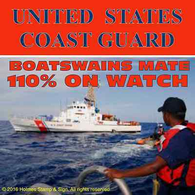 "US Coast Guard -  Boatswains Mate - Vinyl Decal - 4"" x 4"""
