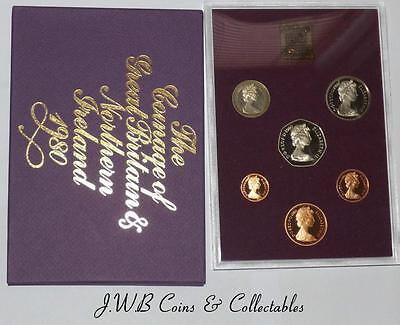 1980 Coinage of Great Britain & Northern Ireland Proof Set