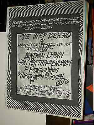 London Down Grey Matter Jello Biafra's Court Victory Celebration Flyer Oct 1987