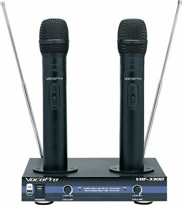 Vocopro Vhf-3300 Rechargeable Wireless Karaoke Dj Vocal Microphone System