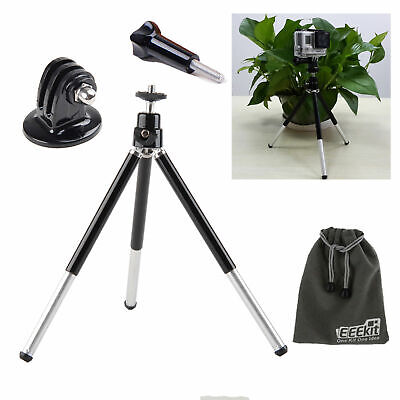 EEEKit for Gopro Hero 5 Hero4 Black Silver Session 3+ Tripod Mount+Adapter+Screw