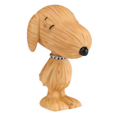 New DEPARTMENT DEPT 56 Figurine PEANUTS SNOOPY Dog Statue DOGWOOD WOODEN Puppy