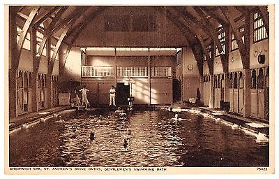 Droitwich Spa - Gentlemen's Swimming Pool at St Andrew's Brine Baths - 1939