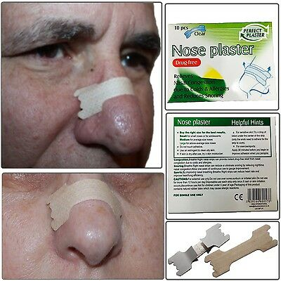 10x NOSE PLASTERS OPEN NASAL PASSAGE CLEAR DISCREET RELIVE CONGESTION COLD FLU