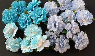 Mulberry Paper Flowers 20 CARNATIONS 2.5cm Cardmaking embellishments papercraft