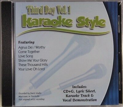 Third Day Volume 1 Christian Karaoke Style NEW CD+G Daywind 6 Songs