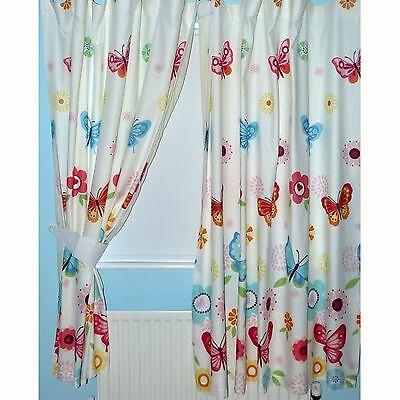 Next Girls Lined Tab Top Butterfly Curtains 66