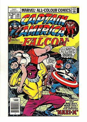 Captain America Vol 1 No 211 Jul 1977 (VFN+ to NM-) Bronze Age, Jack Kirby art