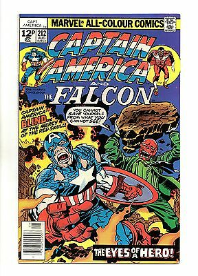 Captain America Vol 1 No 212 Aug 1977 (VFN+ to NM-) Bronze Age, Jack Kirby art