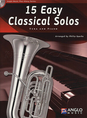 15 Easy Classical Solos for Tuba BC Eb Bb TC Sheet Music Book with CD and Piano