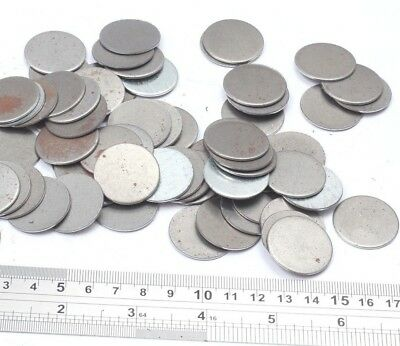 25mm Dia Mild Steel Blank Round Discs Clearance Bargain Old Stock Bargain Price