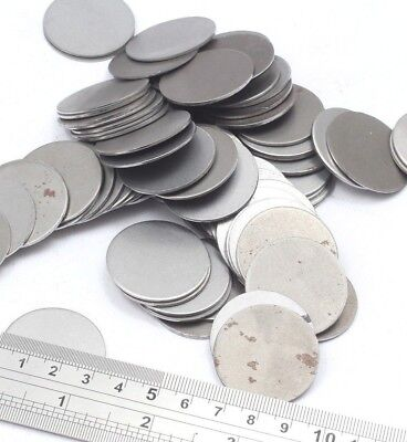 40 mm Dia Mild Steel BLANK ROUND DISCS Laser Cut UK Made Welding MIG Practice