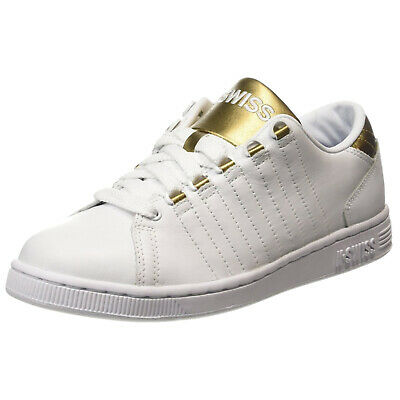 K-Swiss Womens Lozan III Trainers - New Ladies Tennis Court Shoes White Gold