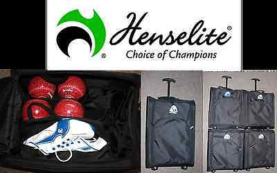 Henselite Prohawk Bowls Bowling Trolley Bag With 4 Bowl Carrier & Shoe Bag