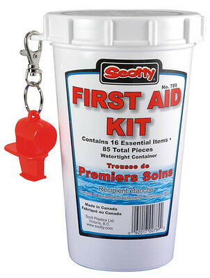 Boat Marine Safety Equipment First Aid Kit Watertight Container 85 Pieces Total