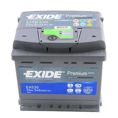 Type 012 540CCA 4 Years Wty OEM Replacement Exide Premium Car Battery 12V 53Ah